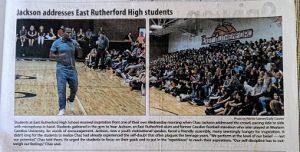 Chaz in newspaper